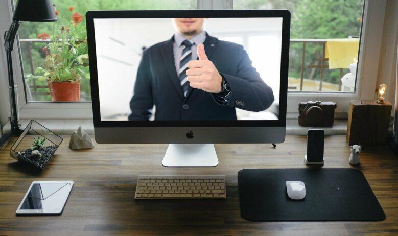 Werbung für Anwälte -Videokonferenz